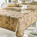 NAPPE TOILE CIREE MATCH CAFE       140