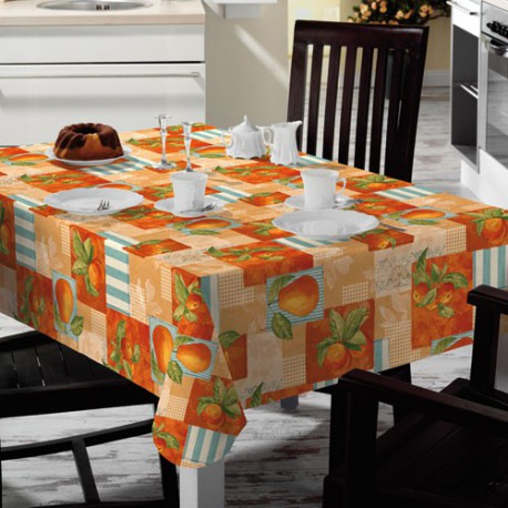 NAPPE TOILE CIREE MATCH AU VERGER 140