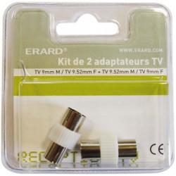 ADAPTATEUR TV.9MM MA/TV.9.52MM F.X2 SC