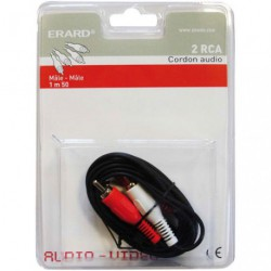 CORDON AUDIO 1.50M 2RCA MALE/2RCA MALE