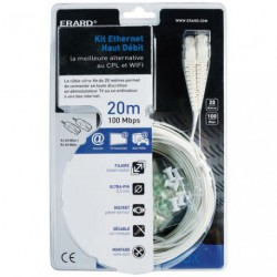 KIT ETHERNET ANTI-ONDES WIFI 20 METRES