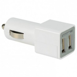 CHARGEUR USB ALLUME CIGARE 2 X 2A