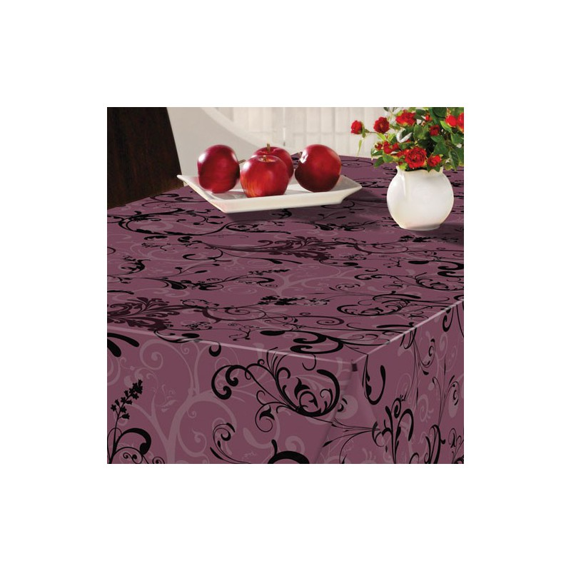 nappe ronde arabesque violet maison de la droguerie. Black Bedroom Furniture Sets. Home Design Ideas