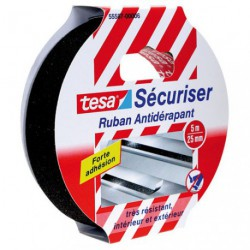 SECURISER RUBAN ANTIDERAPANT NOIR 5X25