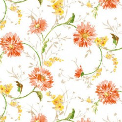 NAPPE TOILE MATCH AQUA.ORANGE 140CM