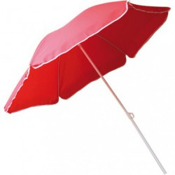 PARASOL D.200CM INCLINABLE ROUGE