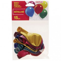 BALLON A GONFLER METALLISE X15 ASS. /P