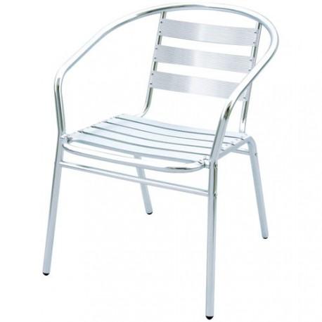 fauteuil bistrot alu 53x57x72cm maison de la droguerie. Black Bedroom Furniture Sets. Home Design Ideas
