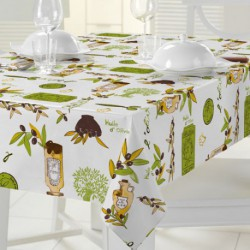NAPPE RECT.140X240CM OLIVE HUILE