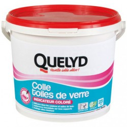QUELYD COLLE TOILE DE VERRE  COLOR.5KG