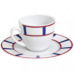 PAIRE-TASSE CAFE 10CL PORCE.BASQUE B/R