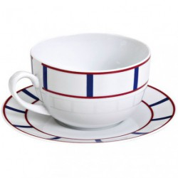 PAIRE-TASSE THE 22CL PORCEL.BASQUE B/R