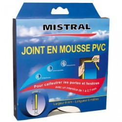 JOINT MOUSSE PVC BLANC 9MMX3MMX6M
