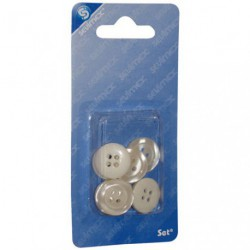 8 BOUTONS 4 TROUS TAILLE 17