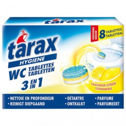 TARAX WC TABLETTES 3EN 1 CITRON 8X25G