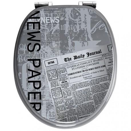 ABATTANT MDF GRAFIC LINE NEWSPPAPER