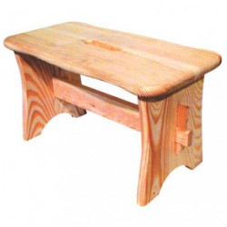 TABOURET BAS PIN NATUREL H.22 CM
