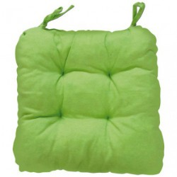 COUSSIN CHAISE GINEVRA VERT ANIS 40X40