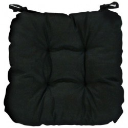COUSSIN CHAISE GINEVRA NOIR 40X40X5