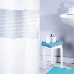 RIDEAU DOUCHE PVC 180X180 3D BLANC