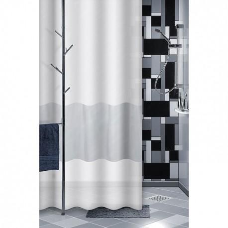 rideau douche pvc 180x180 class gris maison de la droguerie. Black Bedroom Furniture Sets. Home Design Ideas