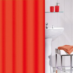 RIDEAU DOUCHE PVC 180X180 FLASHY ROUGE
