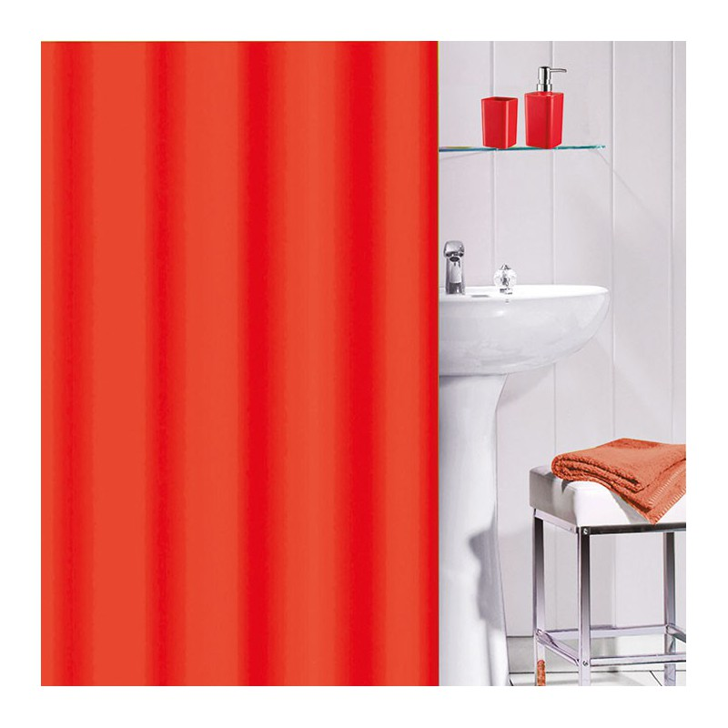 rideau douche pvc 180x180 flashy rouge maison de la. Black Bedroom Furniture Sets. Home Design Ideas