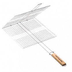 GRILLE BARBECUE CAGE 35X21CM DOUBLE