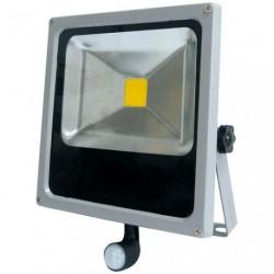 PROJECTEUR LED 20W COMPACT +DETEC.GRIS