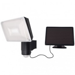 PROJECTEUR LED SOLAR + DETECT.NOIR 6W