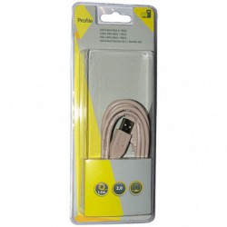 CORDON USB M AM A 1.8M BL