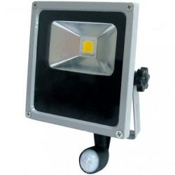 PROJECTEUR LED 10W COMPACT +DETEC.GRIS