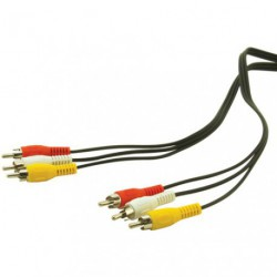 CORDON AUDIO 3RCA/3RCA HQ 2M BL