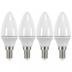 LED FLAM E14 3.5W 250LM BL.CHD X4 LOT