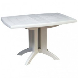 TABLE VEGA PLIANTE 118X77 BLANC