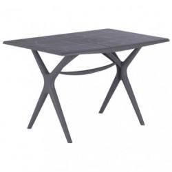 TABLE SIGMA PLIANTE 115X75 GRIS SOURIS