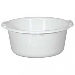 BASSINE RONDE 14L D40 BLANC ALIMENTAIR