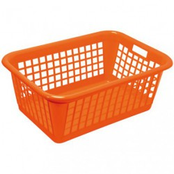 CORBEILLE A LINGE RECTANGULAIRE ORANGE