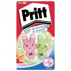 PRITT ROLLER CORRECTION ET GOMME LOT/2