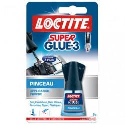 LOCTITE SUPER GLUE3 PINCEAU FLACON 5G