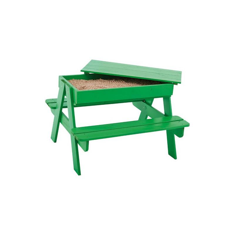 Table enfant bac a sable picsand maison de la droguerie - Table bac a sable bois ...