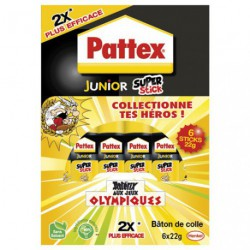 PATTEX JUNIOR SUPER STICK 22G X6