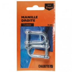 MANILLE DROITE STD  6MM Z 2SC