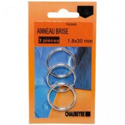 ANNEAU BRISE TREMPE 2.0X30MM 3S/CARTE