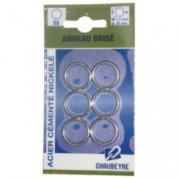 ANNEAU BRISE TREMPE 1.5X21MM 6S/CARTE
