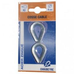 COSSE CABLE DIN 6899/B 4MM ACIER Z.C/2