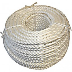 CORDE POLYPROP.10MM BLANC  COUR.100M