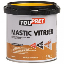 MASTIC TOUPRET VITRIER BLANC 1KG   GSB