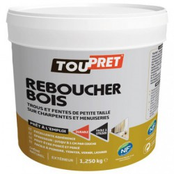 ENDUIT REBOUCH.BOIS PATE 1.25KG    GSB