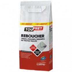 ENDUIT REBOUCHAGE POUDRE 5KG+10%GR.GSB